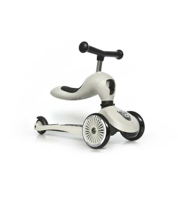 Самокат Scoot and Ride серии Highwaykick-1 светло-серый, до 3 лет/20кг