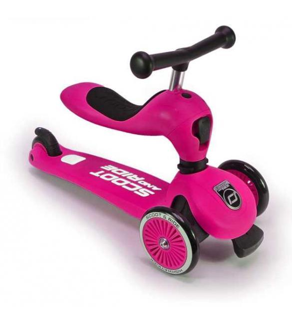Самокат Scoot and Ride серии Highwaykick-1 розовый, от 1 года/20-50 кг