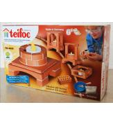 Керамический строительный набор-конструктор из кирпичиков Teifoc Подсвечник