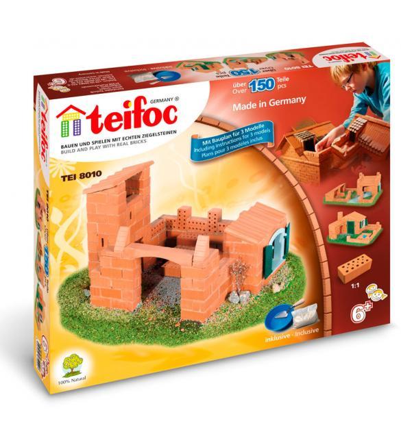 Керамический строительный набор-конструктор из кирпичиков Teifoc Домик Роберт