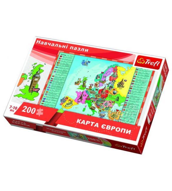 Пазлы Карта Европы 200