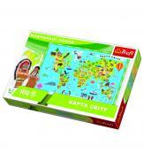 Пазлы Карта світу 100
