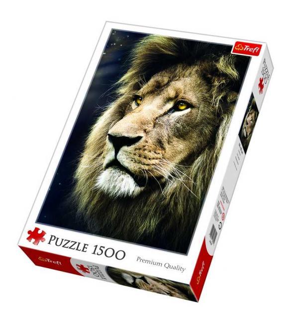 Пазлы Портрет льва 1500
