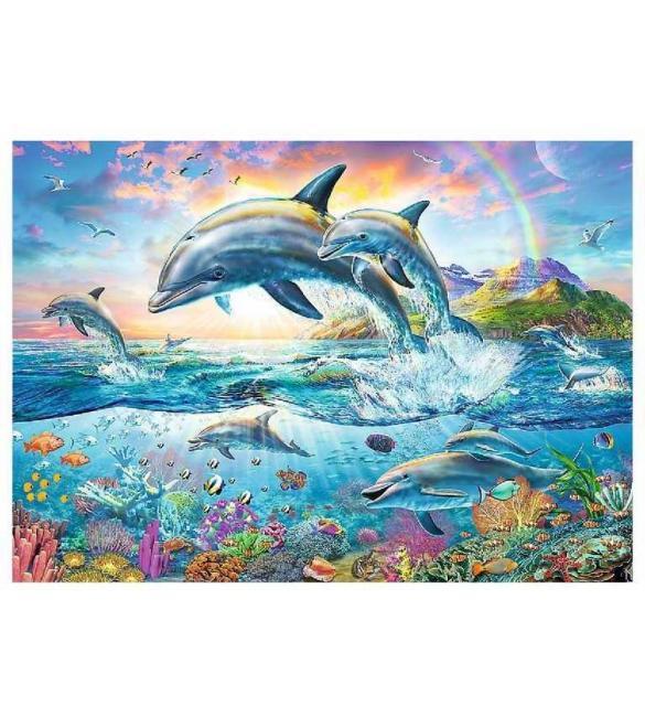 Пазлы Счастливые дельфины 2000