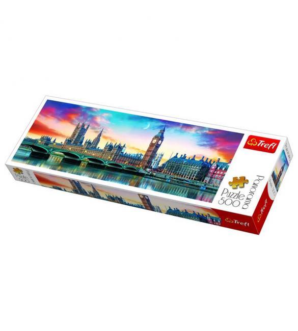 Пазлы Биг-Бен и Вестминстерский дворец Лондон 500  панорамный