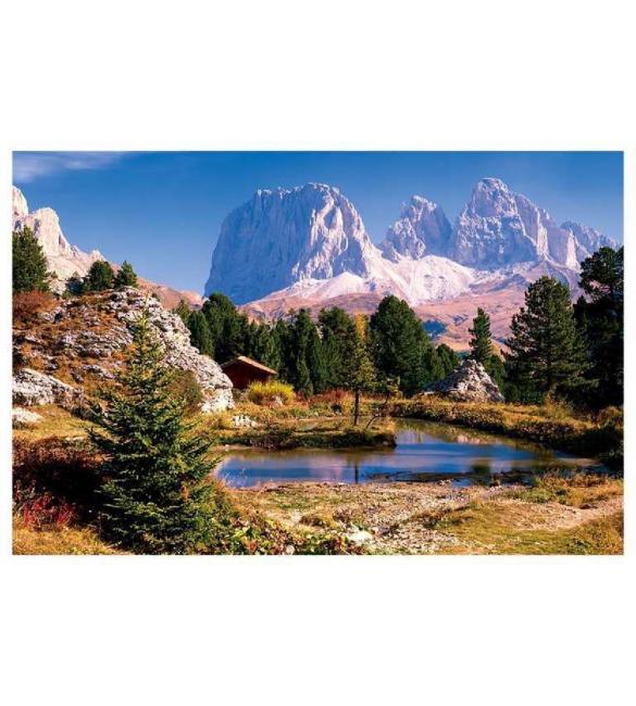 Пазлы Озеро в Доломитах 3000