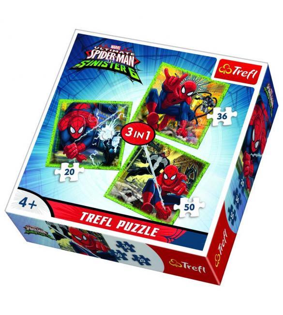 Пазлы Мир Человека-паука 3 по 20-36-50