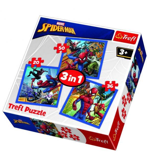 Пазлы Сила Человека-паука 3 по 20-36-50