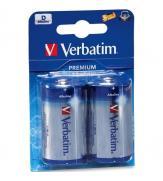 Батарейка Verbatim ALKALINE BATTERY D 2 Pack
