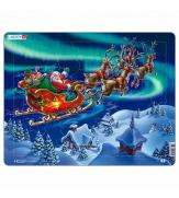 Пазлы Дед Мороз и Северное сияние