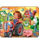 Пазлы Ферма - Маленький тракторист МИНИ