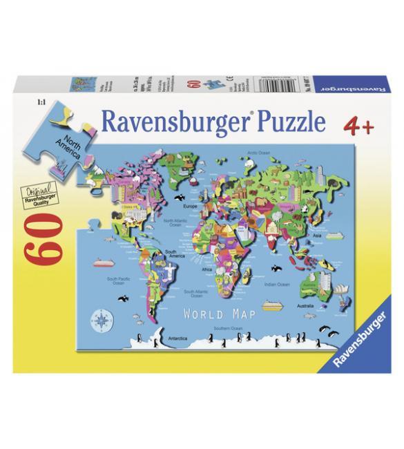 Пазлы Карта мира 60