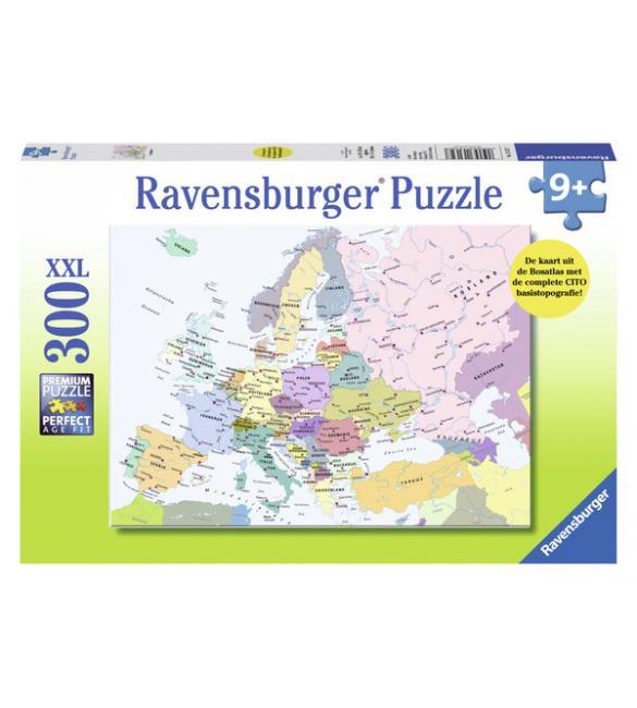 Пазлы Карта Европы 300