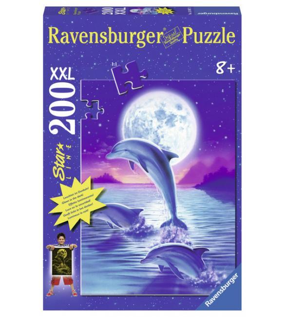 Светящиеся пазлы Дельфины в лунном свете 200