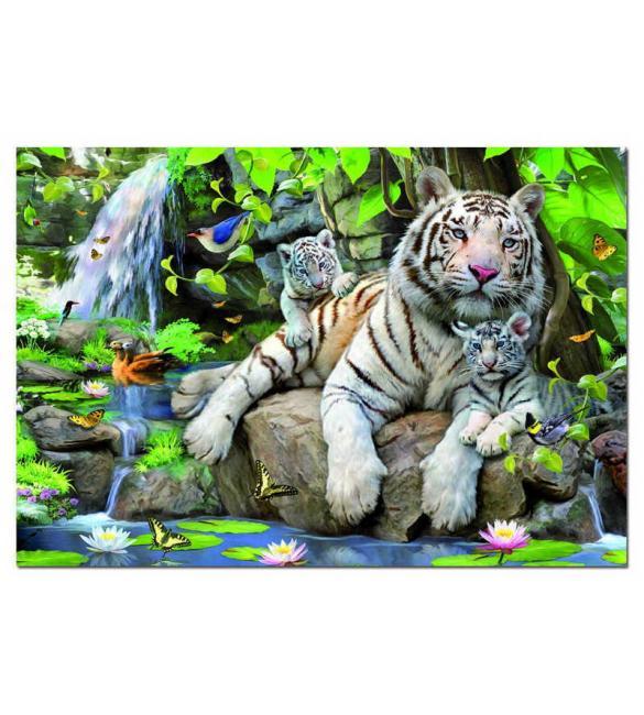 Пазлы Белий бенгальский тигр 1000
