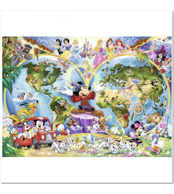 Пазлы Карта Мира Диснея 1000