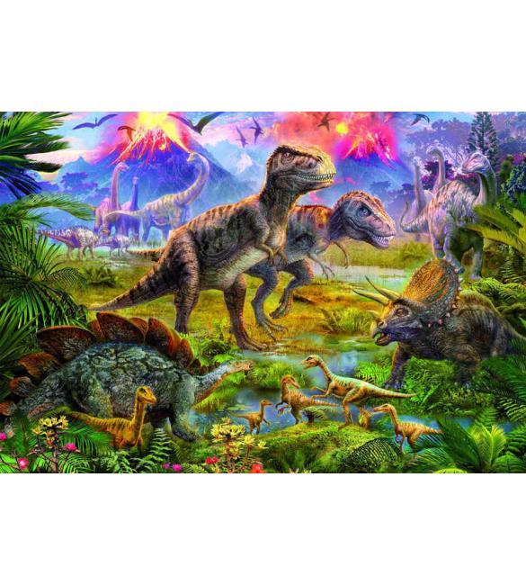 Пазлы Встреча динозавров 500