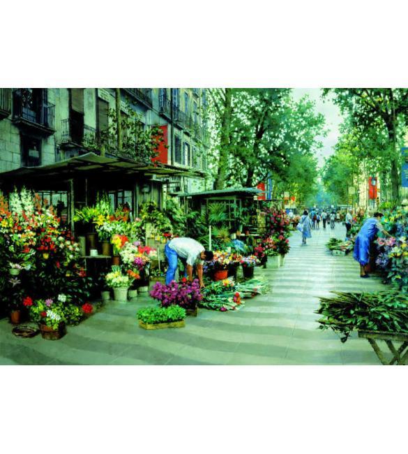 Пазлы Улица Рамбла, Барселона 5000