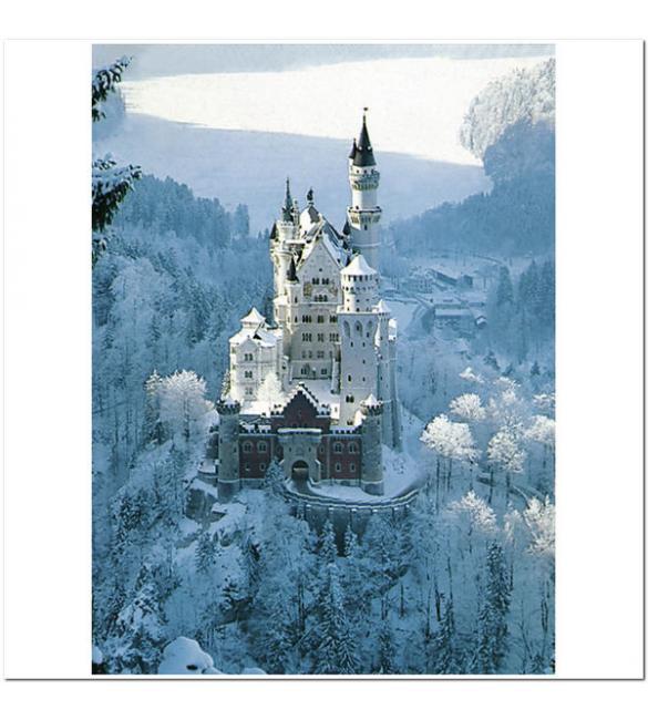 Пазлы Замок Нойшванштайн зимой 1500