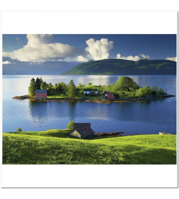 Пазлы Остров в Хордаланне, Норвегия 1500