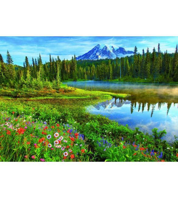 Пазлы Национальный парк Маунт-Рейнир, США 1500