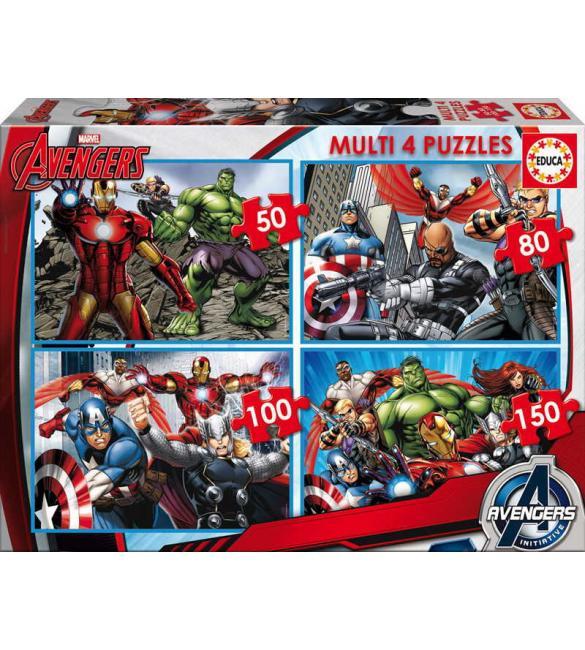 Пазлы Мстители 50-80-100-150 (4 в1)