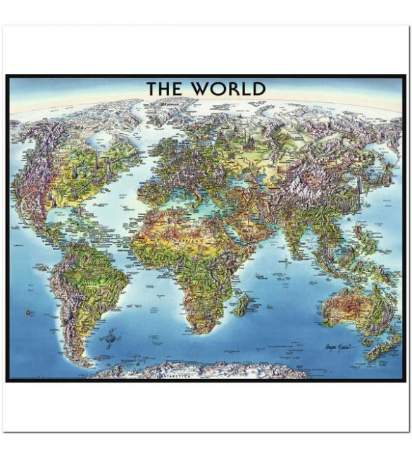 Пазлы Карта мира 2000