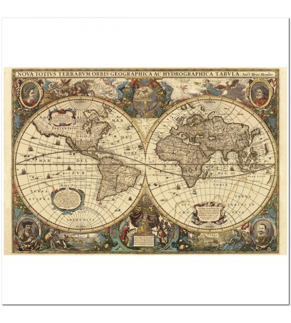 Пазлы Древняя карта мира 5000