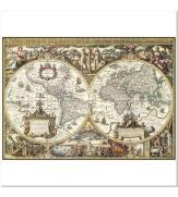 Пазлы Древняя карта Мира 1000