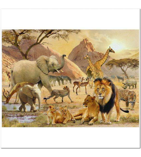 Пазлы Дикая африканская жизнь 1000