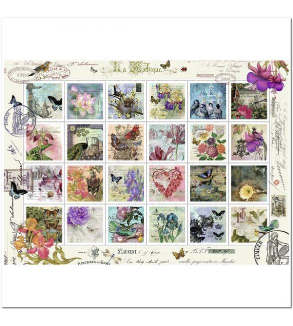 Пазлы Старинные почтовые марки 1000