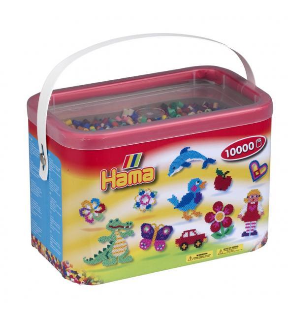 Набор 10 000 цветных бусин для термомозаики, 22 цвета в корзинке 5+