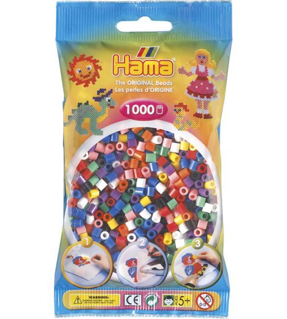 Набор 1000 цветных бусин для термомозаики, 10 цветов 5+