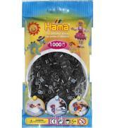 Набор 1000 черных бусин для термомозаики, 10 цветов 5+