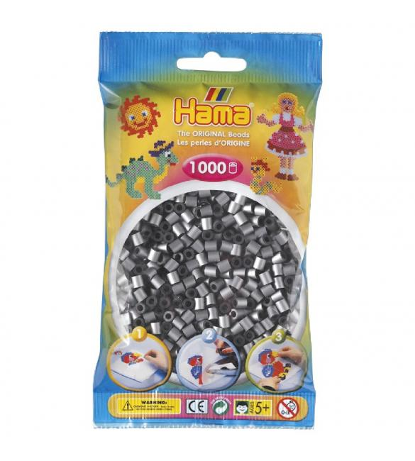 Набор 1000 бусин для термомозаики под серебро 5+