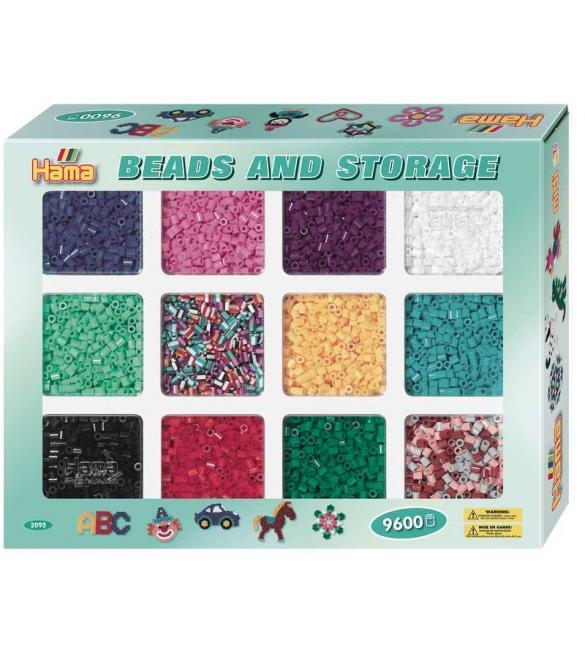 Набор 9600шт цветных бусин для термомозаики 10 цветов и 2 смеси цветов  5+