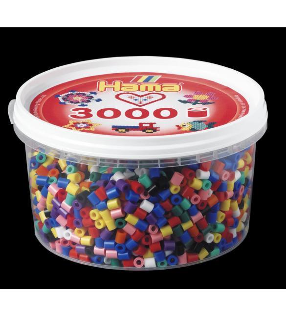 Набор 3000 цветных бусин для термомозаики, 10 цветов в корзинке 5+
