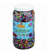 Набор 13 000 цветных бусин для термомозаики, 50 цветов 5+