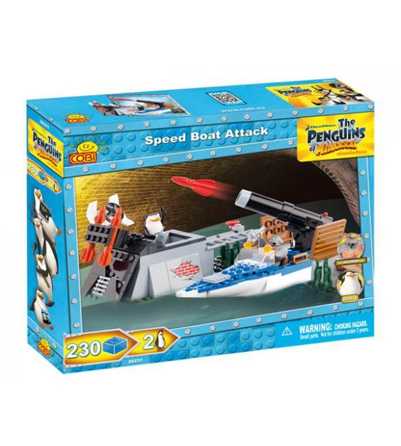 Конструктор Cobi Пингвины - Атака скоростного катера