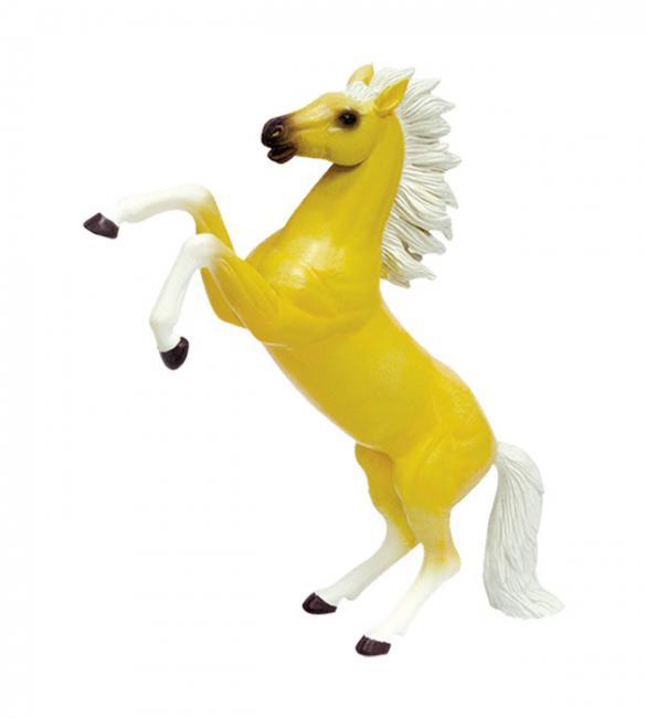 Объемный пазл Скачущая кремовая лошадь