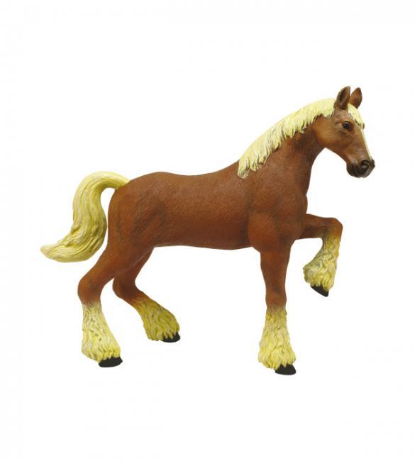 Объемный пазл Лошадь тяжеловоз коричневая