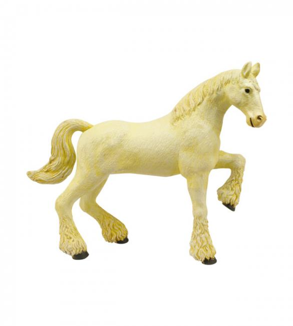 Объемный пазл Лошадь тяжеловоз белая