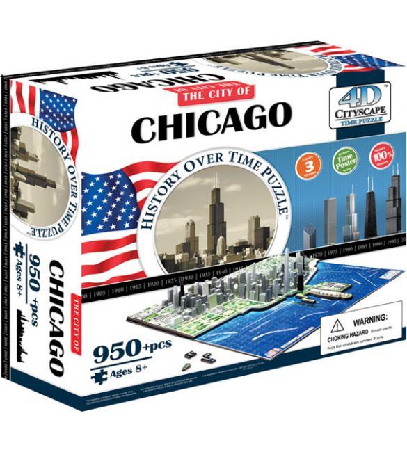 """Объемный пазл """"Чикаго, США"""""""