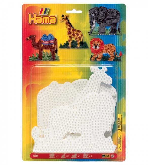 Набор полей для термомозаики Midi - слон, жираф, лев, верблюд 5+