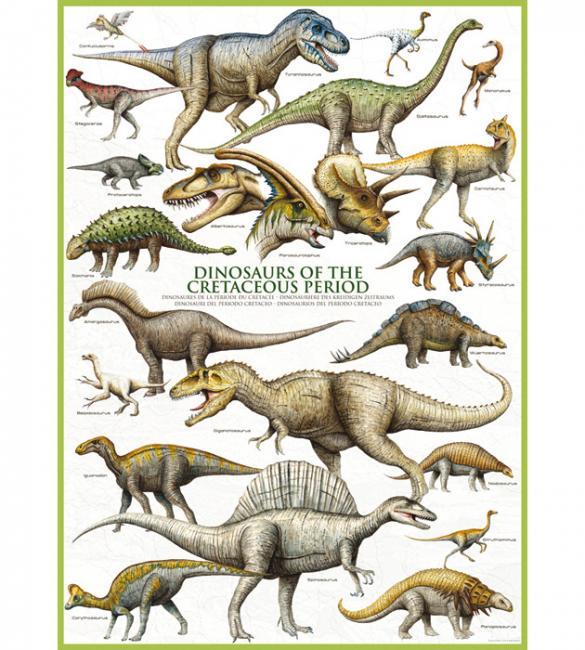 Пазлы Динозавры Мелового периода 1000