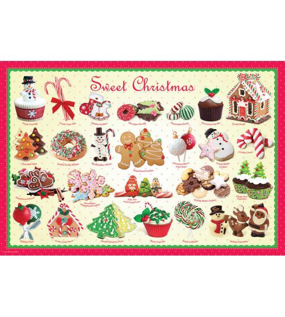 Пазлы Рождественские угощения 100