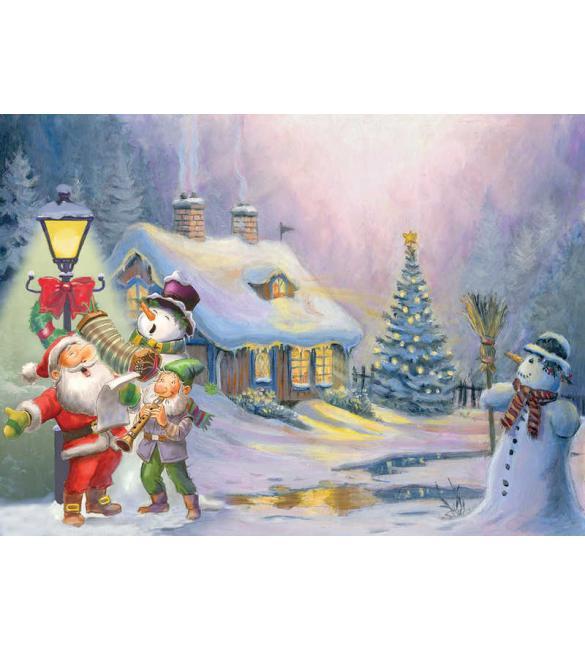 Пазлы Рождественский домик 500