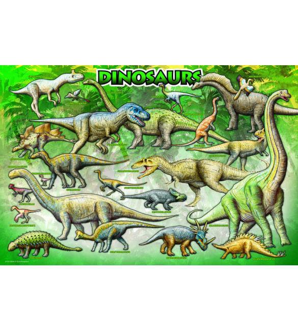 Пазлы Динозавры 100