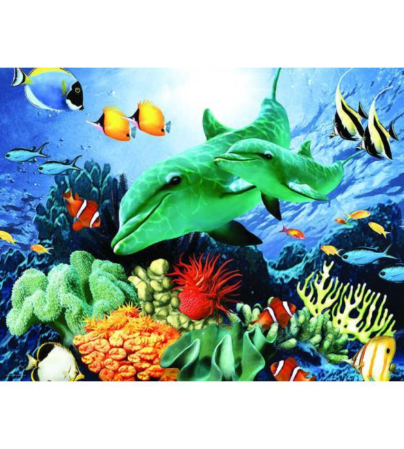 Пазлы Морской риф 100