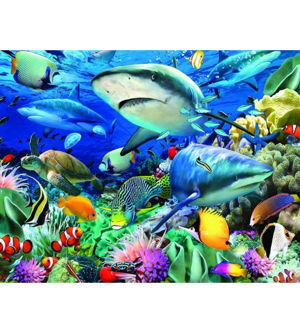 Пазлы Подводный сад 100
